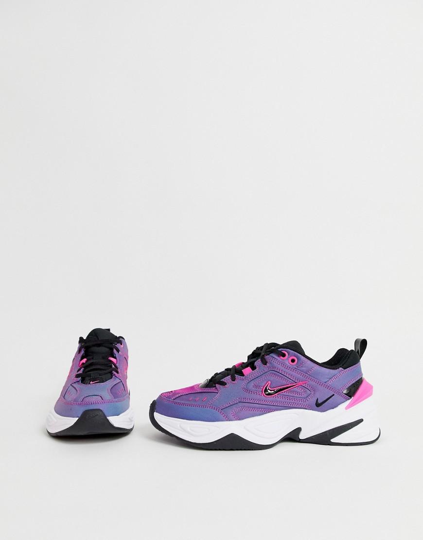 Iridescent M2k Tekno Trainers in Purple