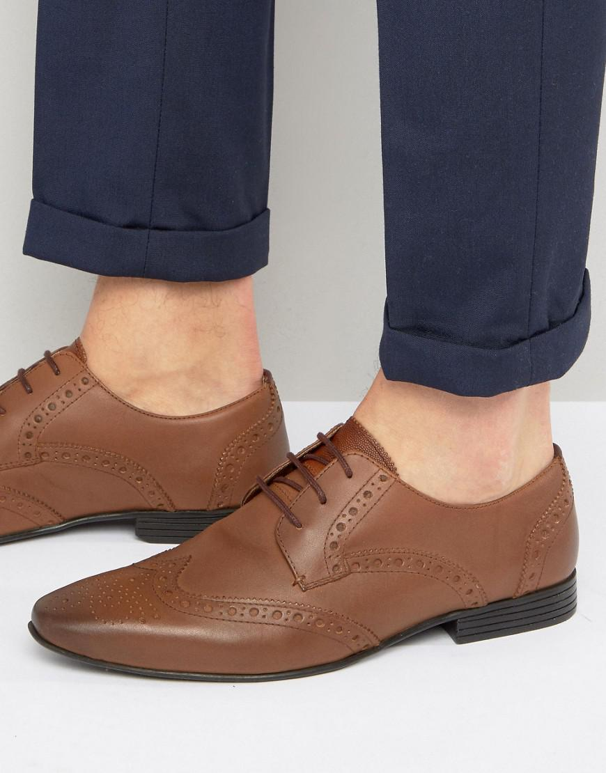 KG By Kurt Geiger Kenford Brogue Derby Shoes - Tan Kurt Geiger Good Selling uPSXD3Ff