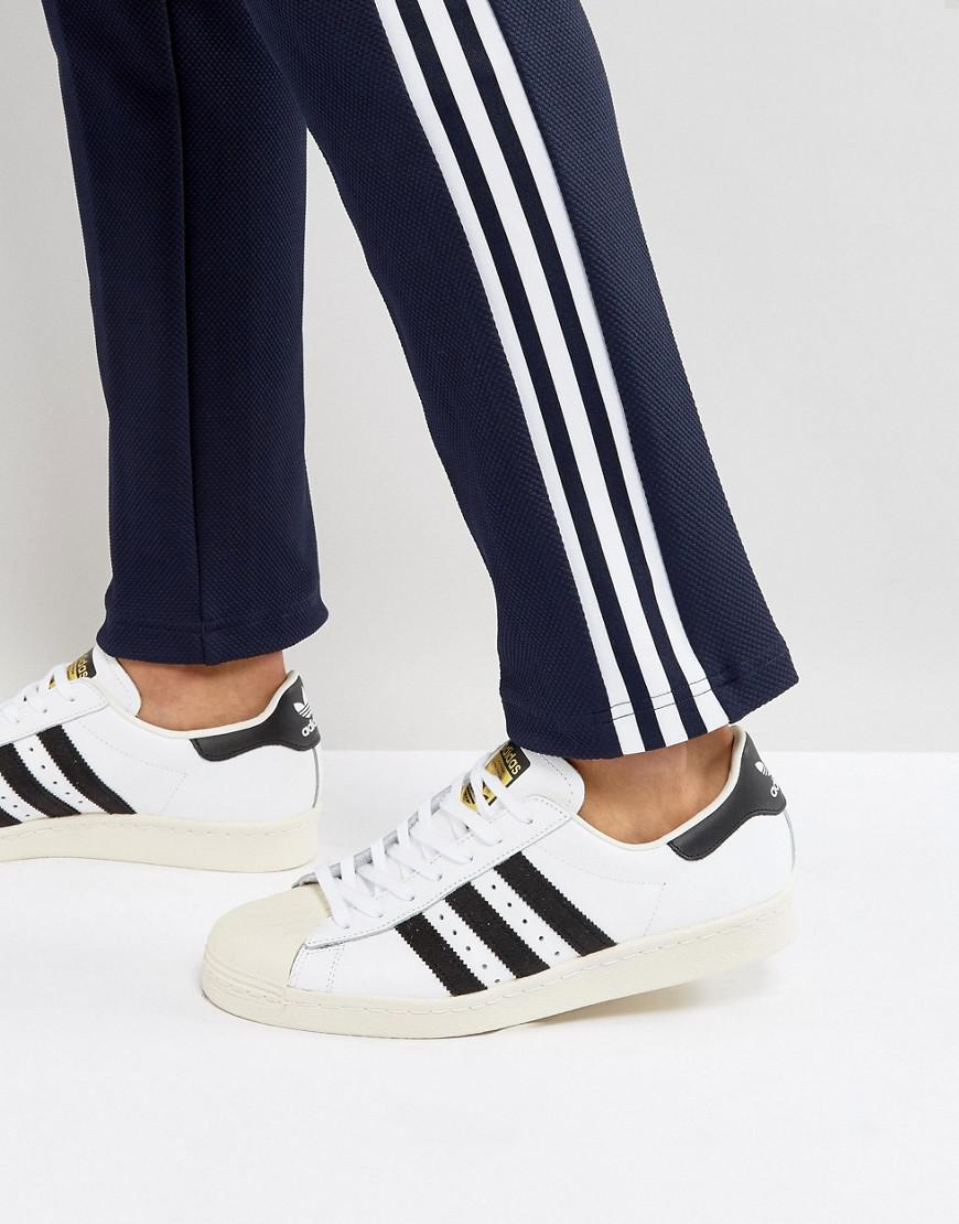 b68d0f77ee80 Lyst - adidas Originals Superstar 80 s Trainers In White G61070 in ...