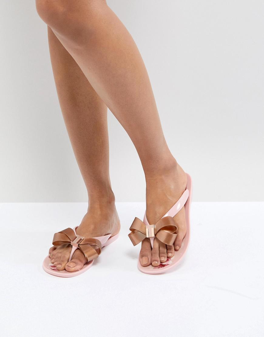 9106fef6f Ted Baker Suszie Pink Flip Flops in Pink - Lyst