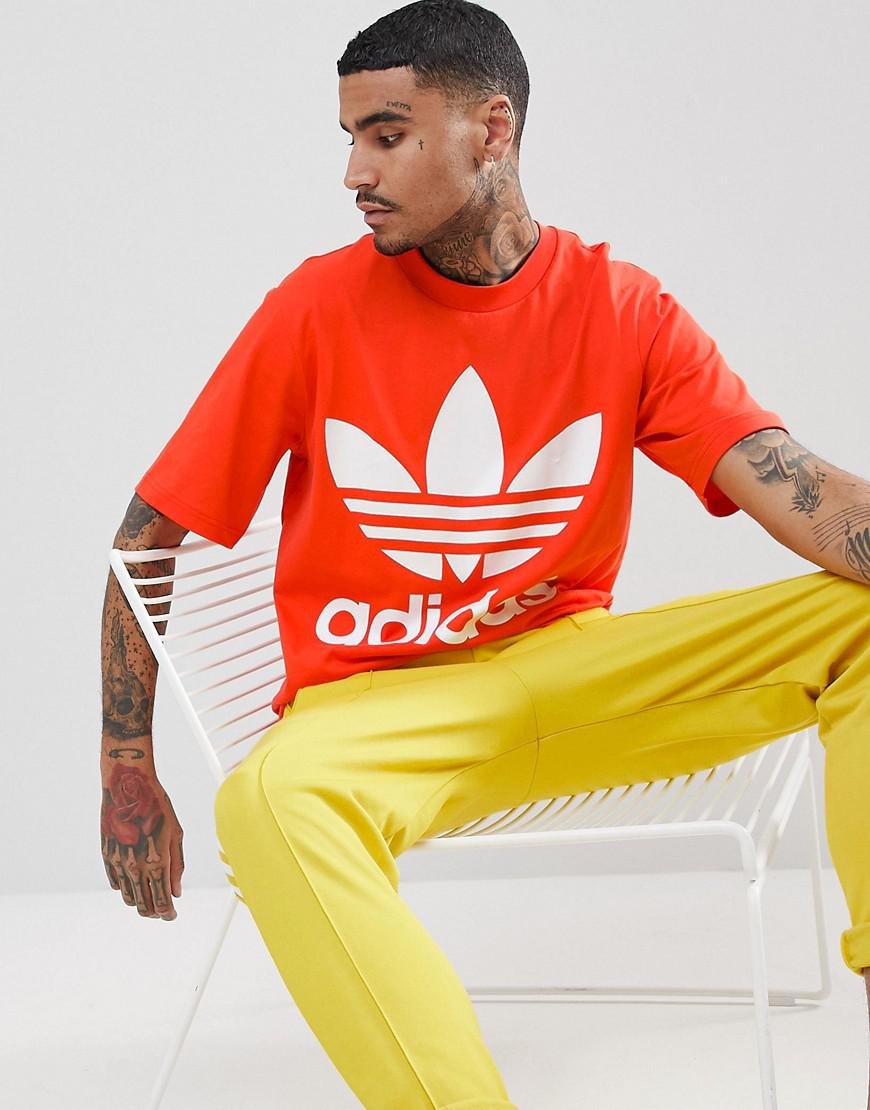 f46ef4ab Adidas Originals Adicolor Oversized T-shirt In Boxy Fit In Red Cw1213 for  men