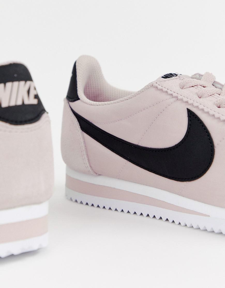 timeless design 9669d 9a1cc Nike Synthetic Cortez Trainers In Pink Nylon - Lyst