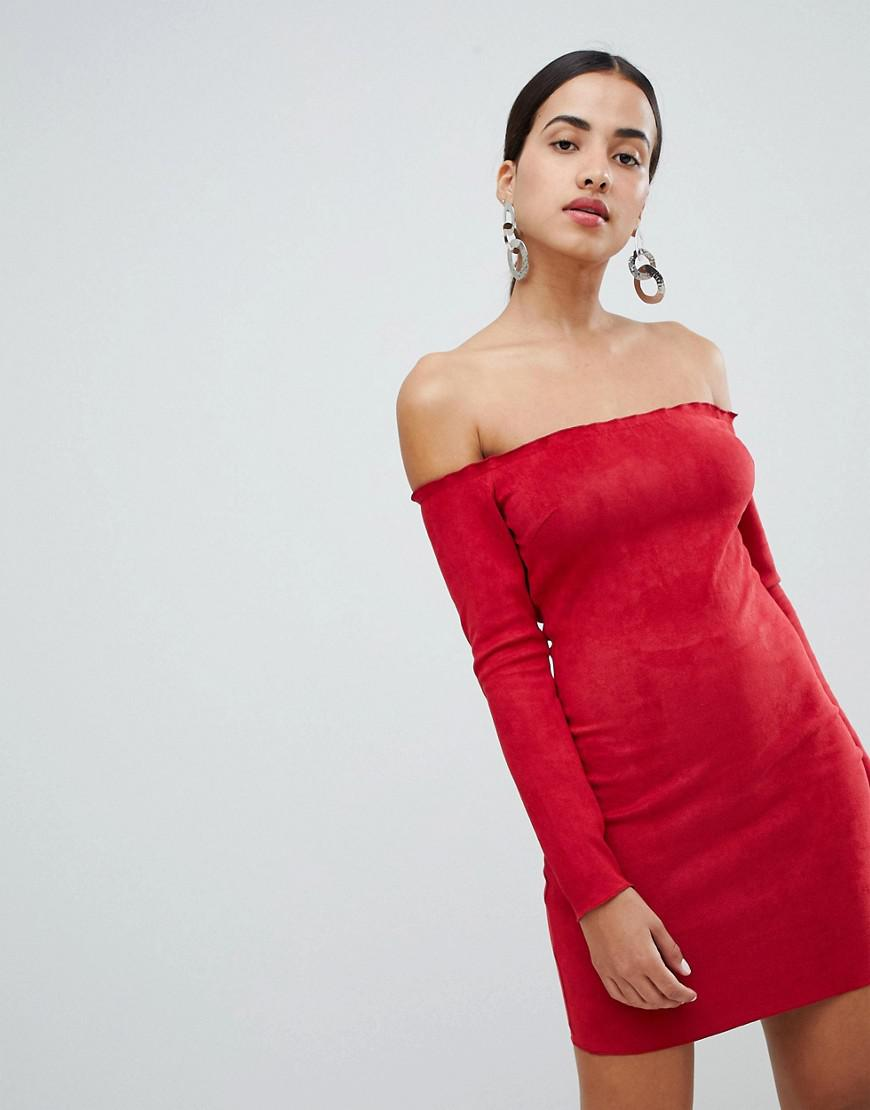 0e428ad8cd AX Paris Long Sleeve Bodycon Dress in Red - Lyst