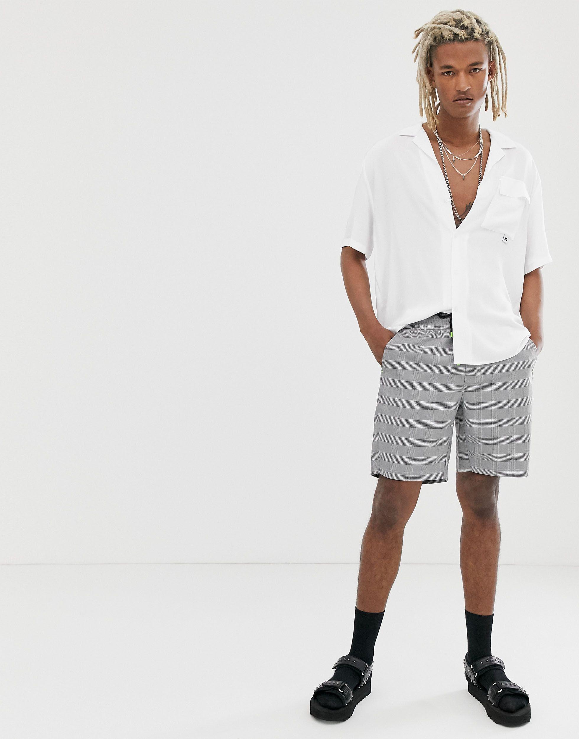 Collusion Denim Overhemd Met Reverskraag in het Wit voor heren