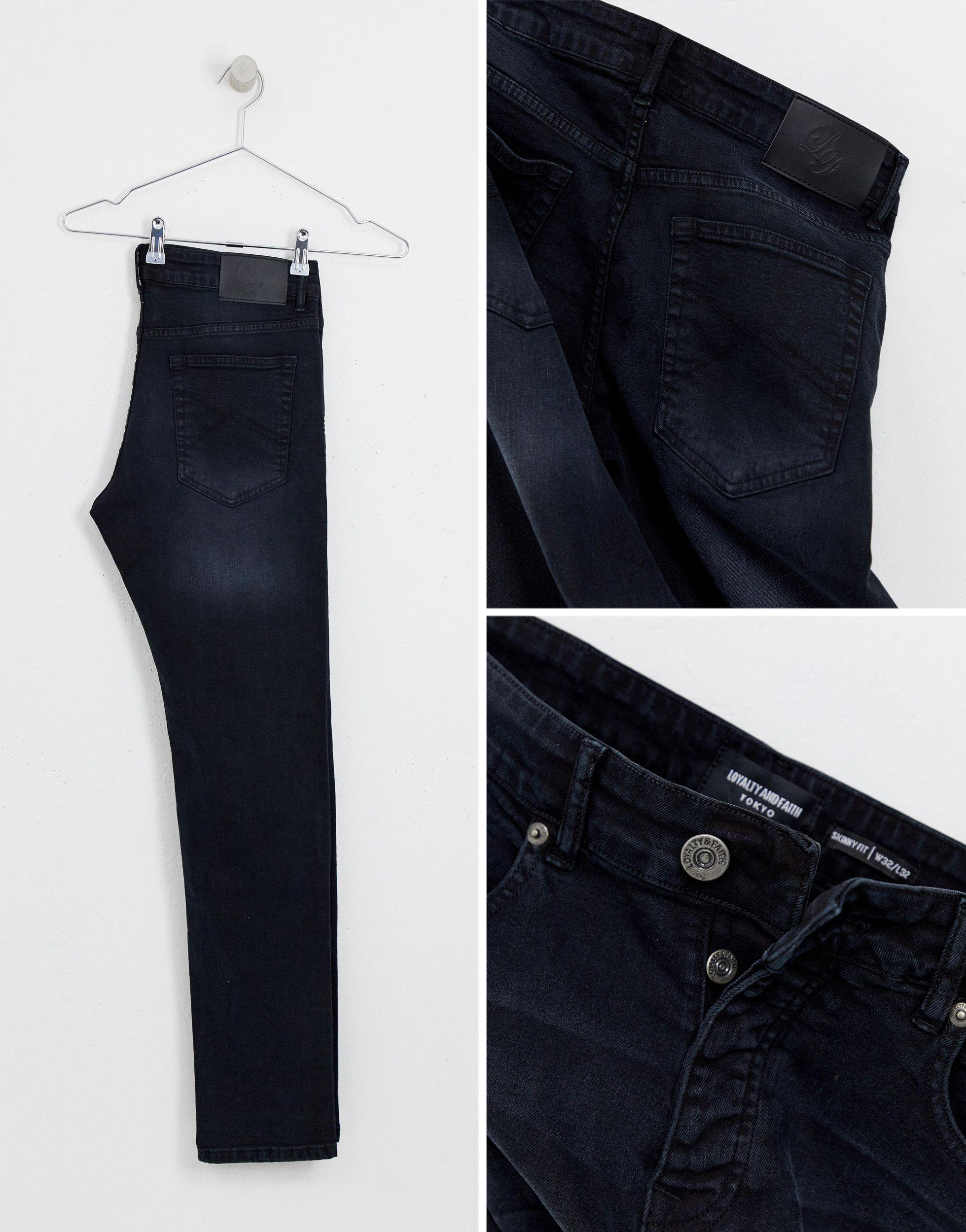 Loyalty & Faith Denim Skinny-fit Jeans in het Zwart voor heren