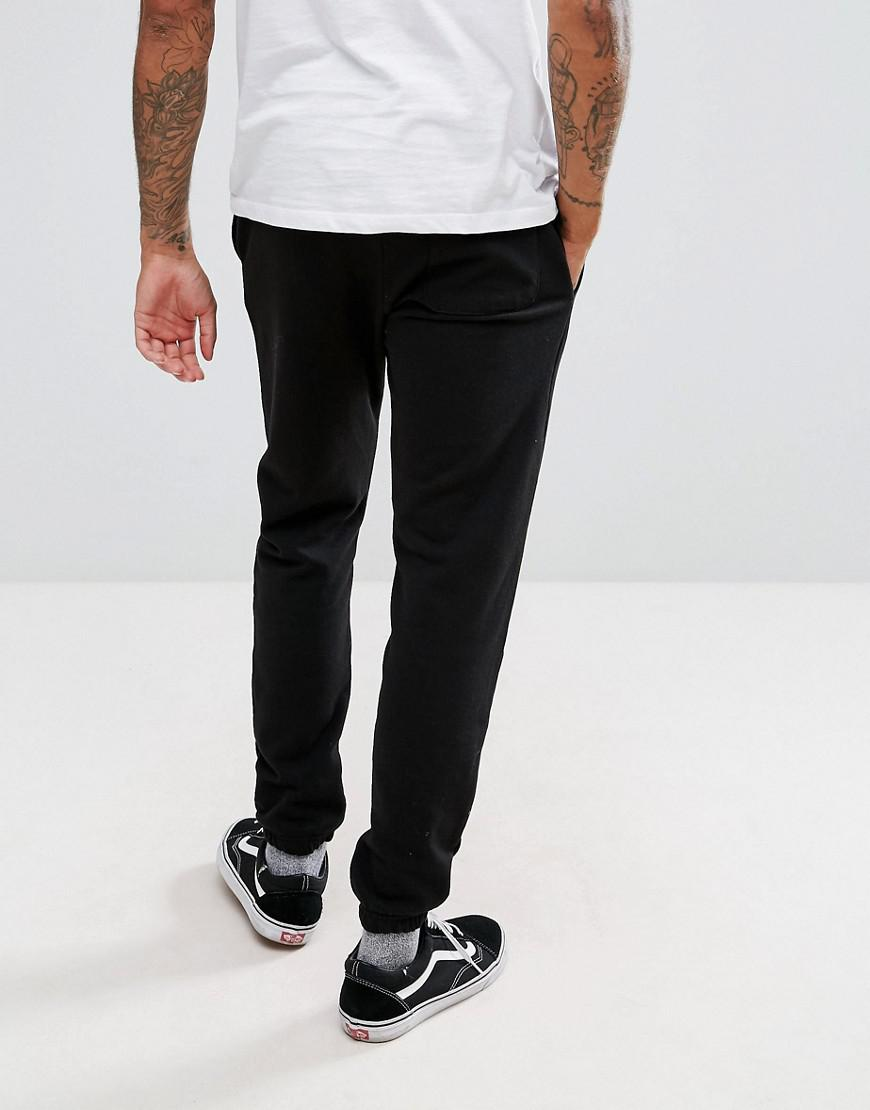 Pull&Bear Cotton Joggers With Logo In Black for Men