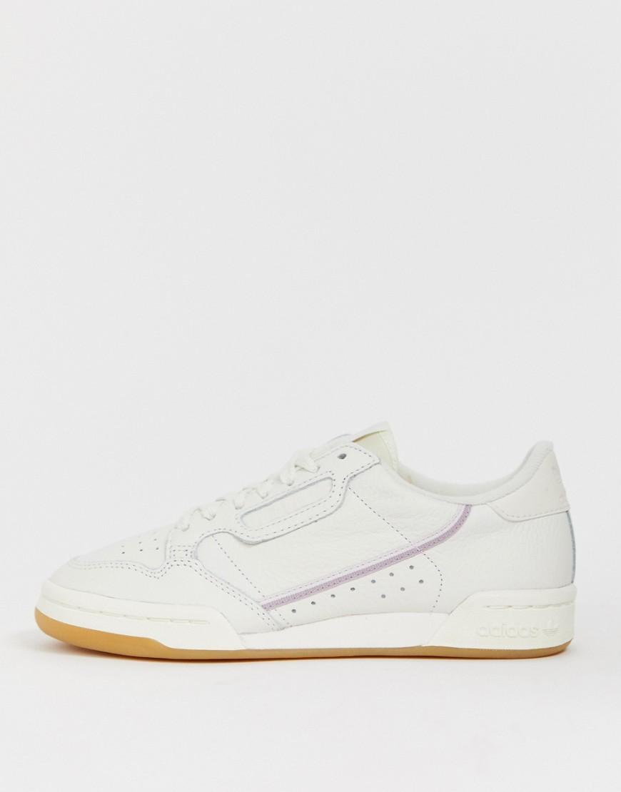 33a36f13a ... Adidas Originals - White And Lilac Continental 80 Trainers - Lyst ·  Visit ASOS. Tap to visit site