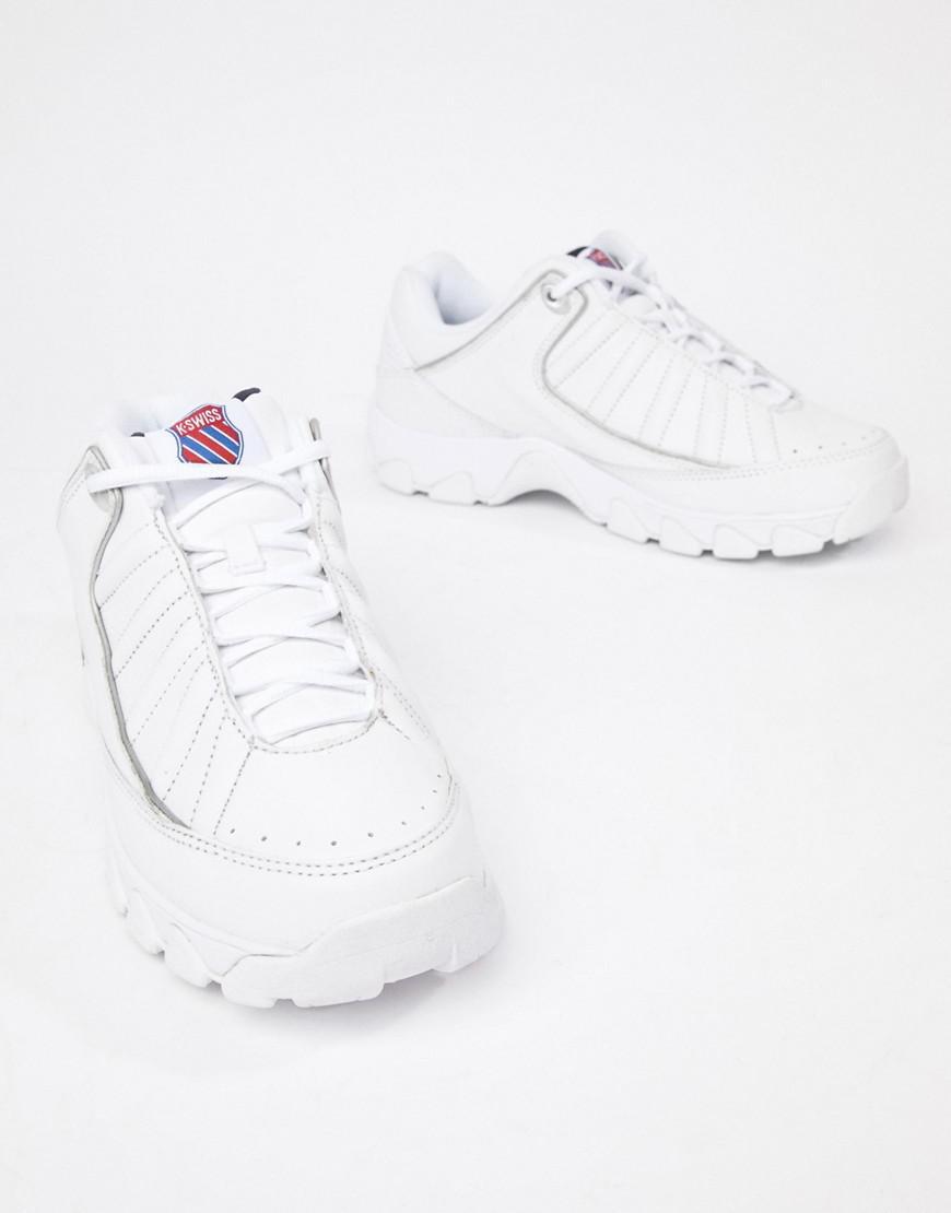 K Swiss ST 529 Heritage Men/'s Court Fashion Sneaker Retro Trainers White