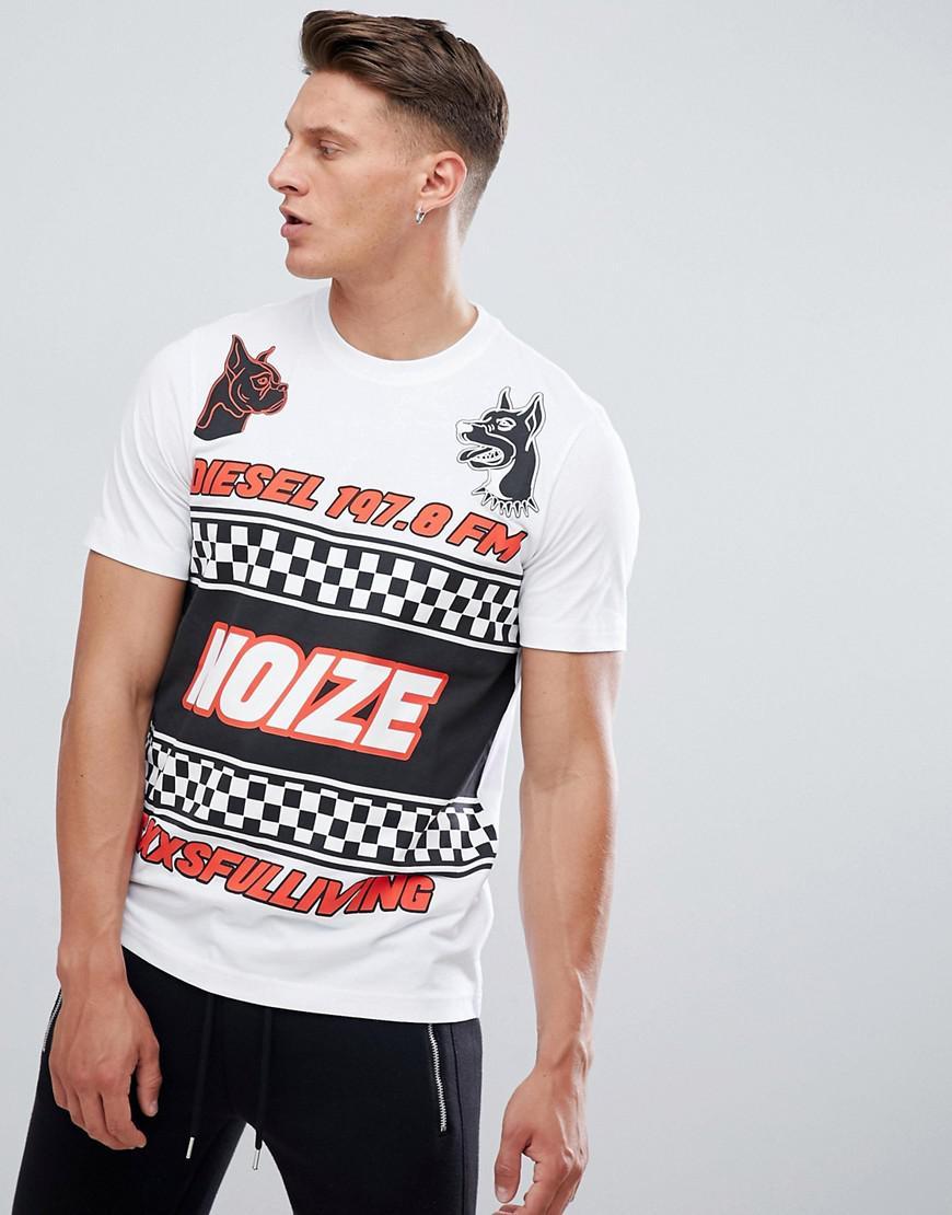 T Just WF Noize T-shirt - White Diesel Cheap Price Wholesale mHVHn1PrW