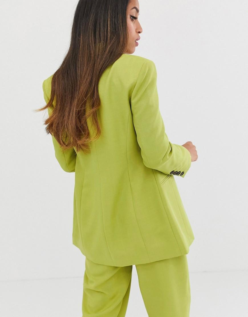Blazer de costume à épaules accentuées - Agrume pop Synthétique ASOS en coloris Vert