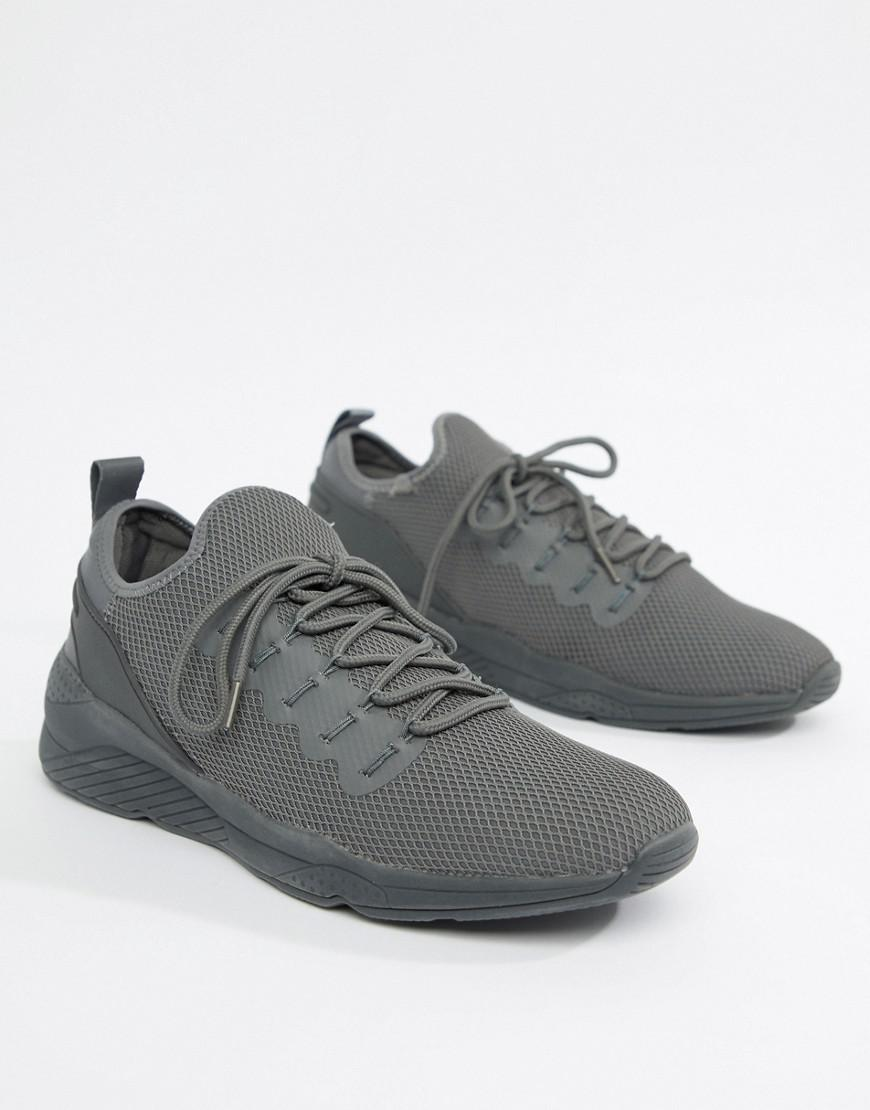 6065a36b98c Lyst - ASOS Trainers In Grey Mesh in Gray for Men