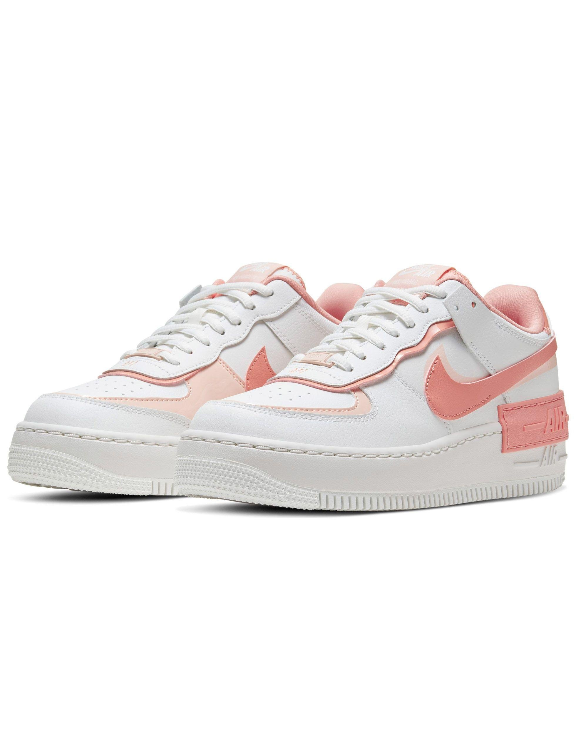 Air Force 1 Shadow - Sneakers bianche e coralloNike in Gomma di ...