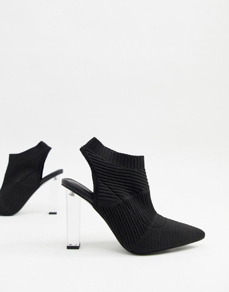 5a64e28f078 Women's Black Posey Knitted High Heels