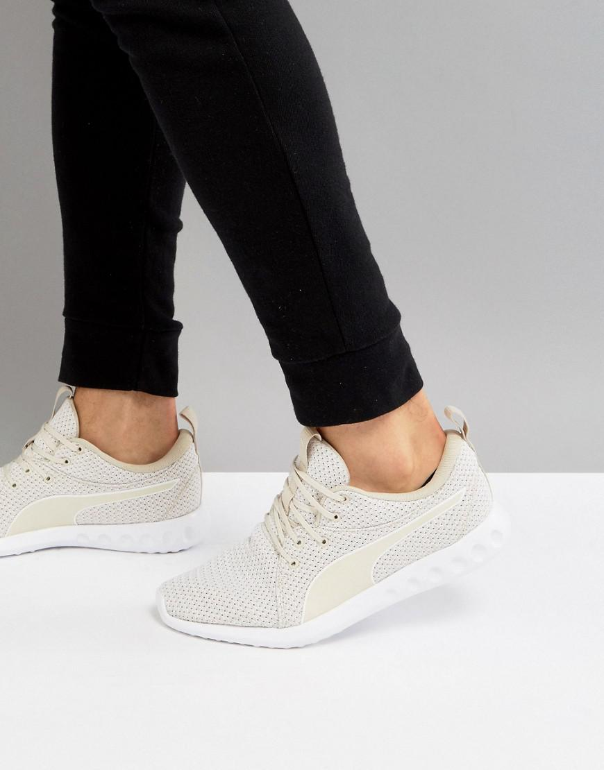 58e3a156ad PUMA Running Carson 2 Knit Sneakers In Beige 19003904 in Natural - Lyst