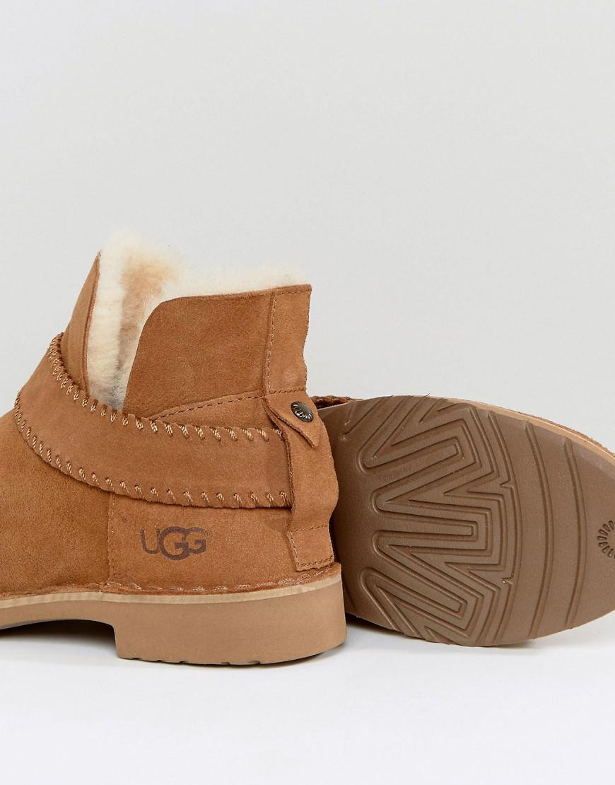 UGG Suede Mckay Strap Ankle Boots in Tan (Brown)