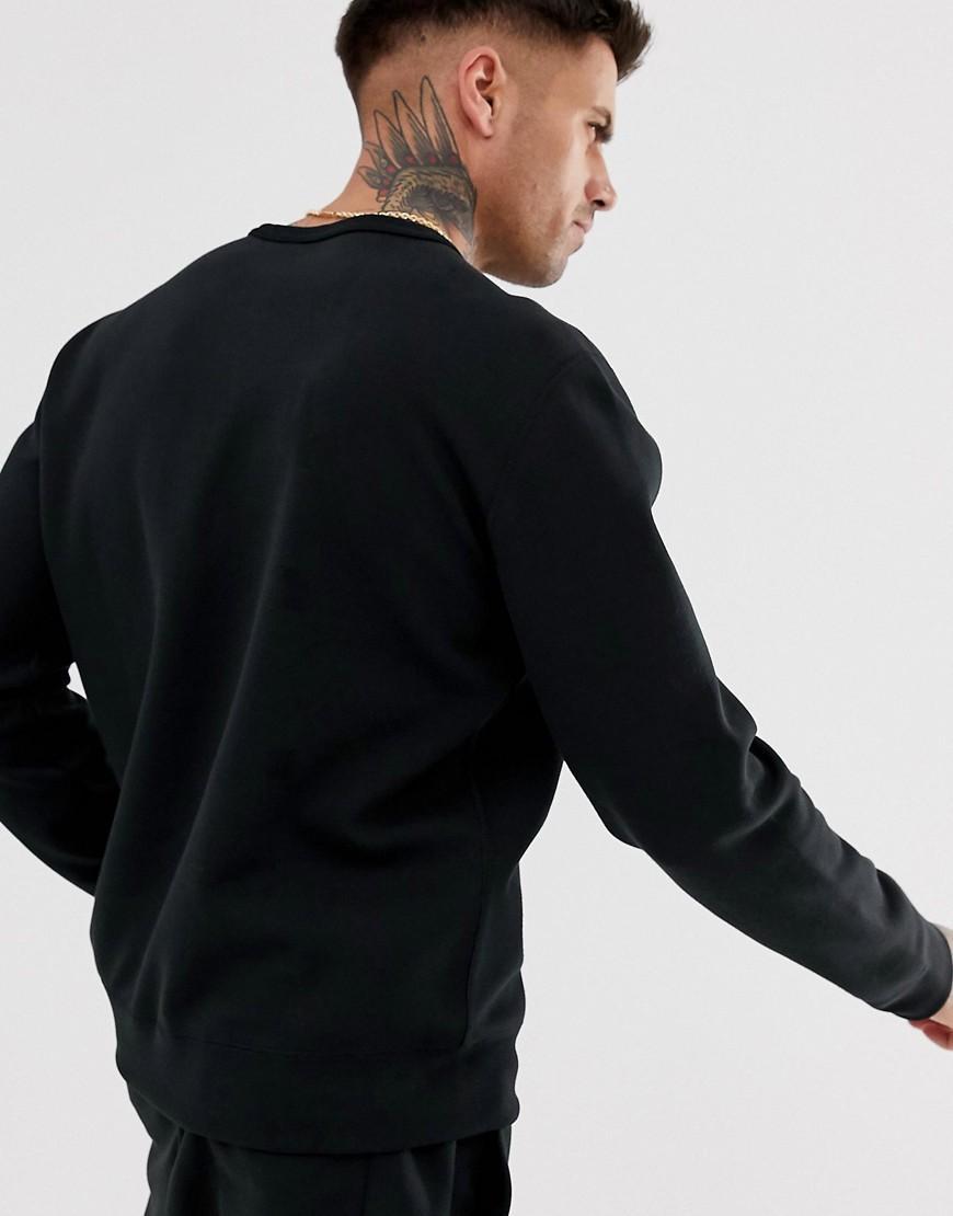 216bb0c4e Polo Ralph Lauren Black & Gold Capsule Crew Neck Sweatshirt Player Logo In  Black in Black for Men - Lyst