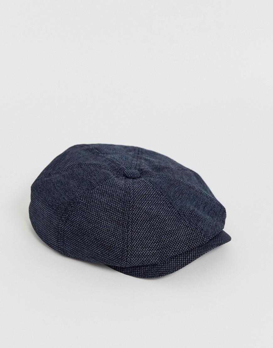 f64837d8d Lyst - Ted Baker Treacle Baker Boy Cap In Blue in Blue for Men