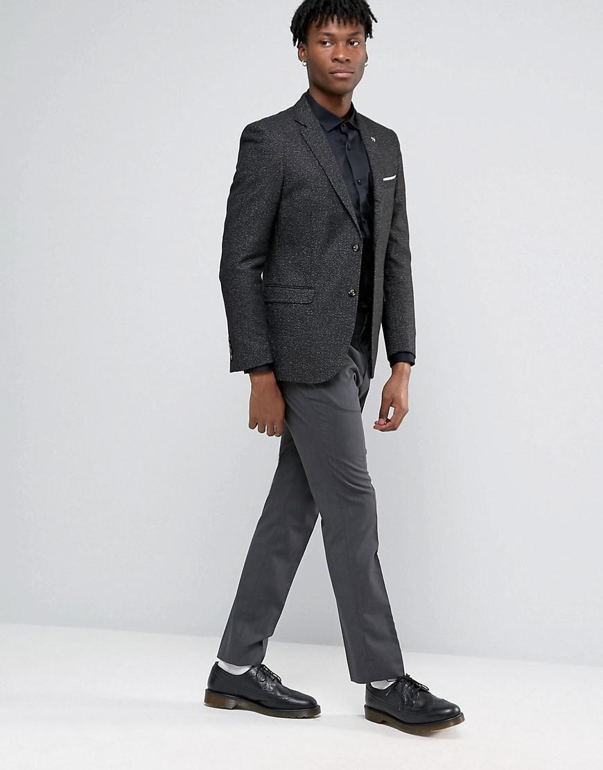 Original Penguin Synthetic Formal Black And White Fleck Jacket for Men