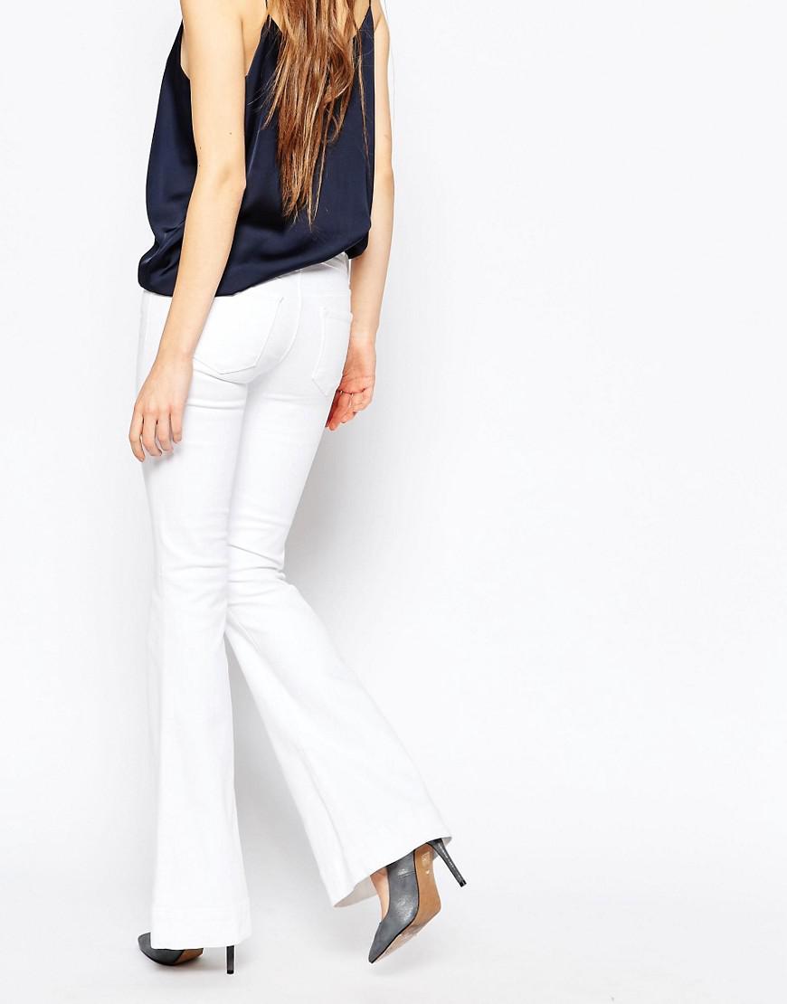 J Brand Denim Lovesbry Low Rise Flare Jeans in White