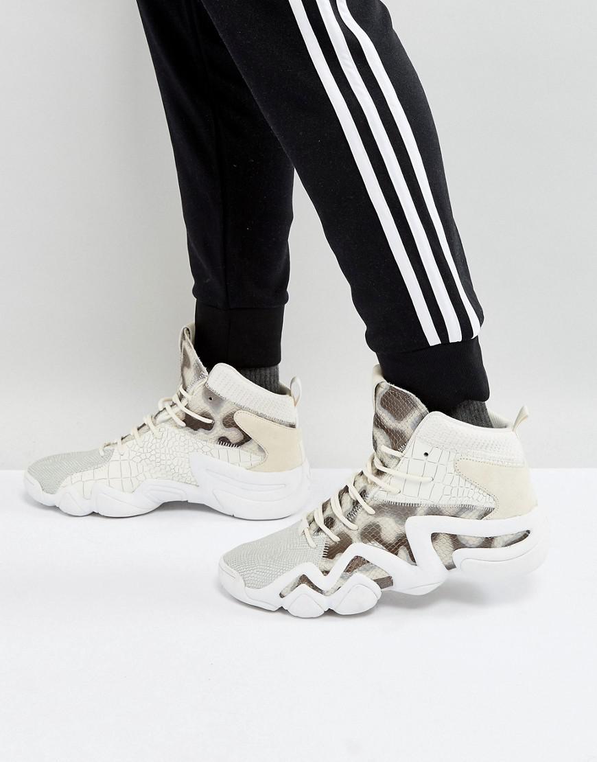 lyst adidas originali crazy 8 primeknit scarpe bianche by4367