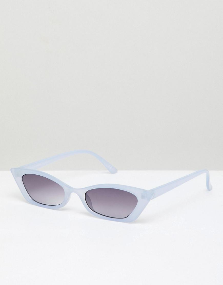 74db17061bde ASOS Squared Narrow Cat Eye Sunglasses in Purple - Lyst