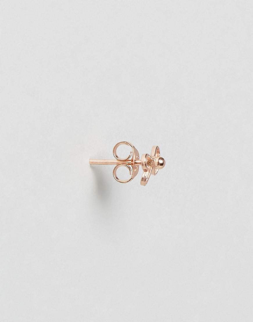 Plaqué Or Rose Arc Boucles D'oreille - Rose Kingsley Or Ryan r2oEzodc