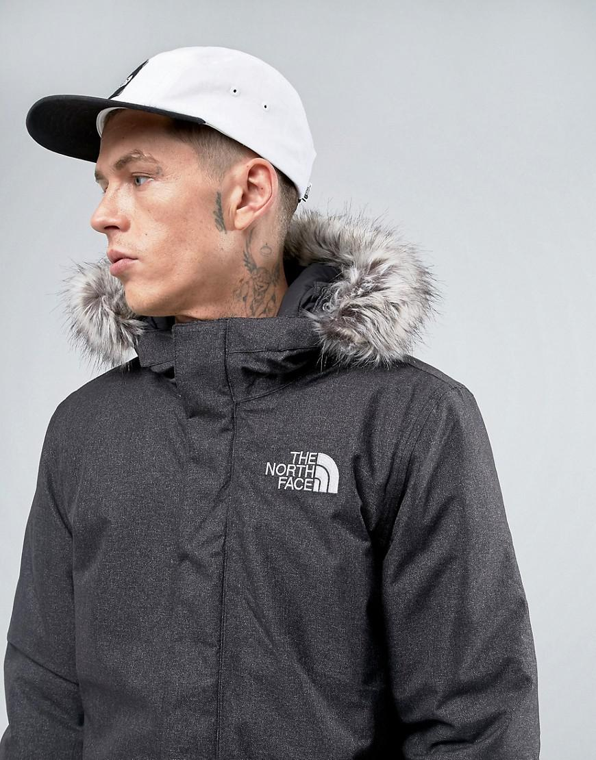 7d8fd968d7d3 Lyst - The North Face Zaneck Detachable Faux Fur Hood Jacket In Grey ...