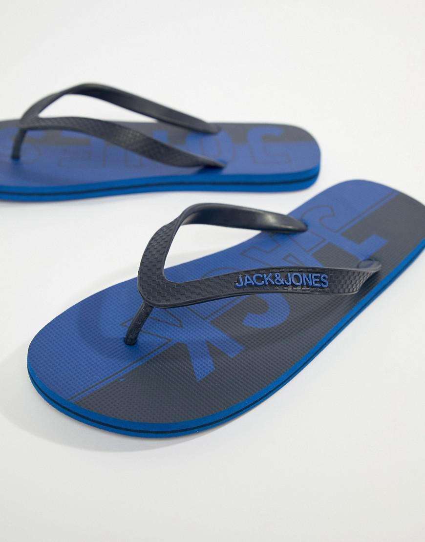 ec305a037147 Lyst - Jack   Jones Flip Flops in Blue for Men