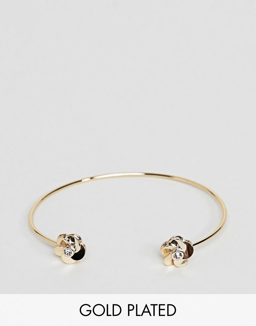 on feet shots of premium selection lower price with Ted Baker Rose Gold Flower Cuff Bracelet in Metallic - Lyst