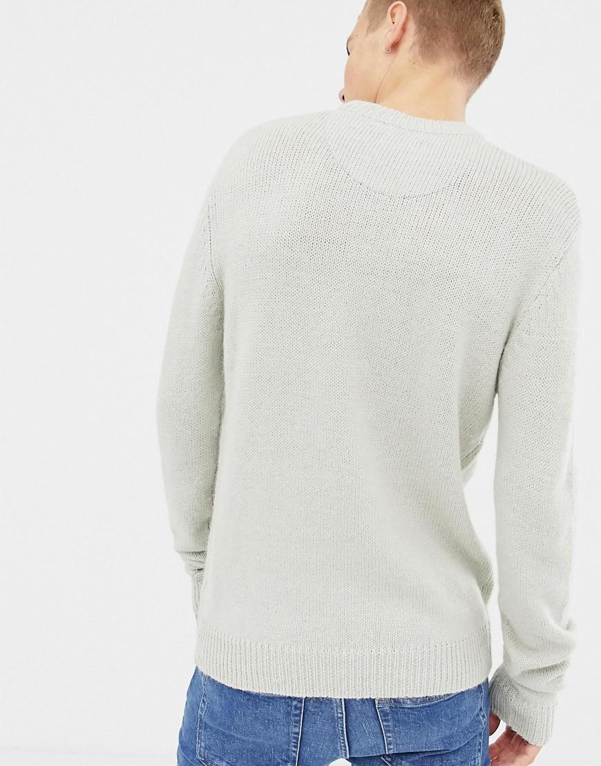 Mens WOOL MIX Stripe Chunky Jumper Brave Soul Knitted Sweater Pullover /'Alfwin/'