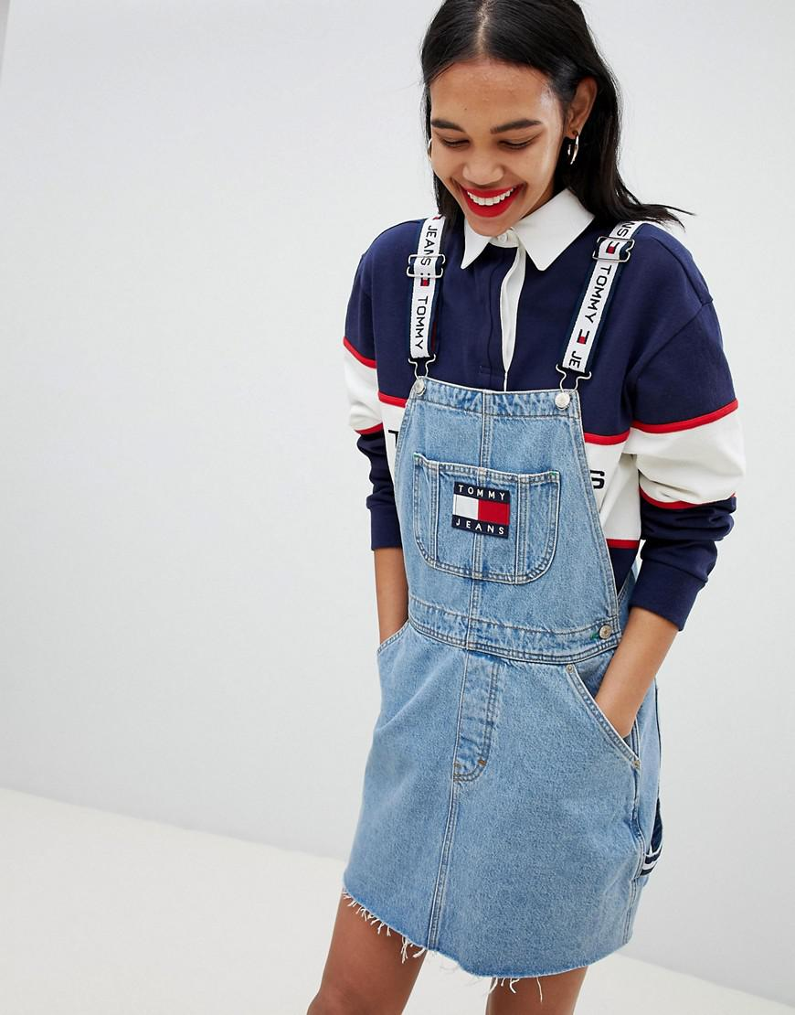 official images great look good service Tommy Hilfiger Tommy Jean 90s Capsule 5.0 Denim Overall Dress in ...