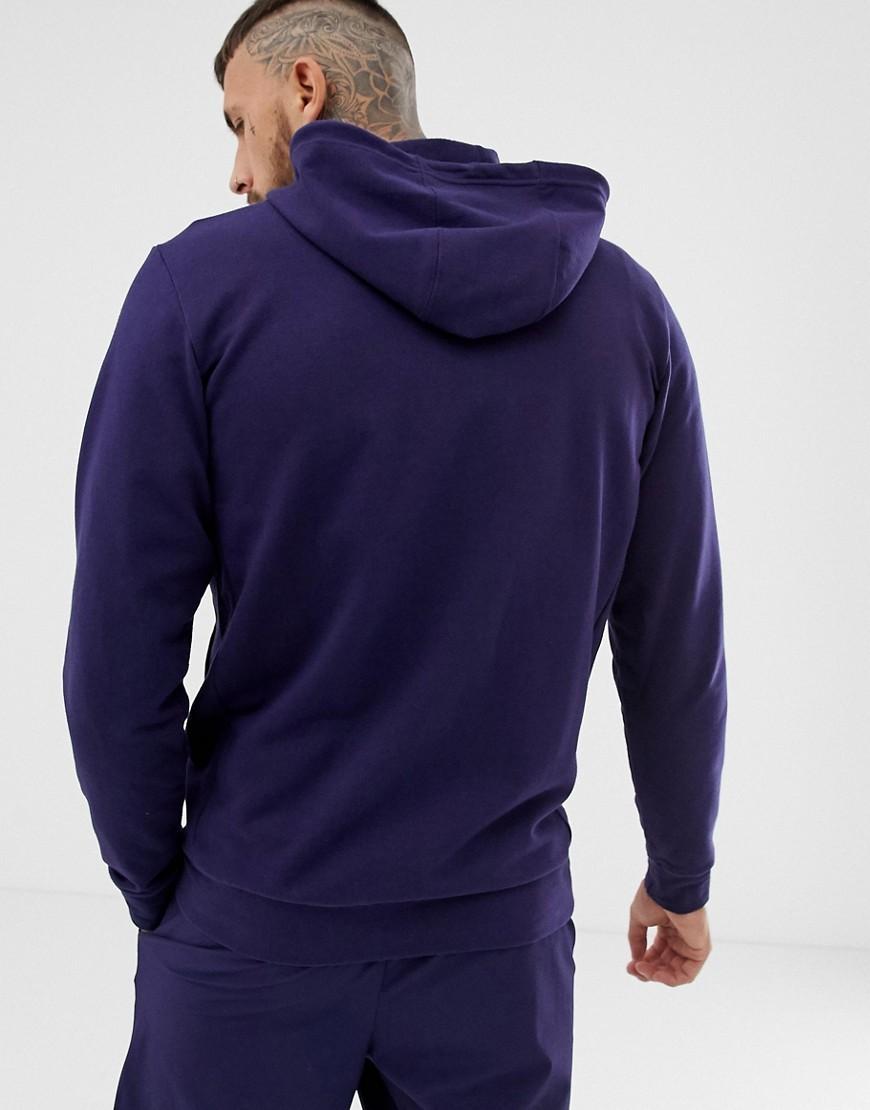 79fe04fd853c Calvin Klein Stripe Logo Zip-thru Hoodie in Blue for Men - Lyst