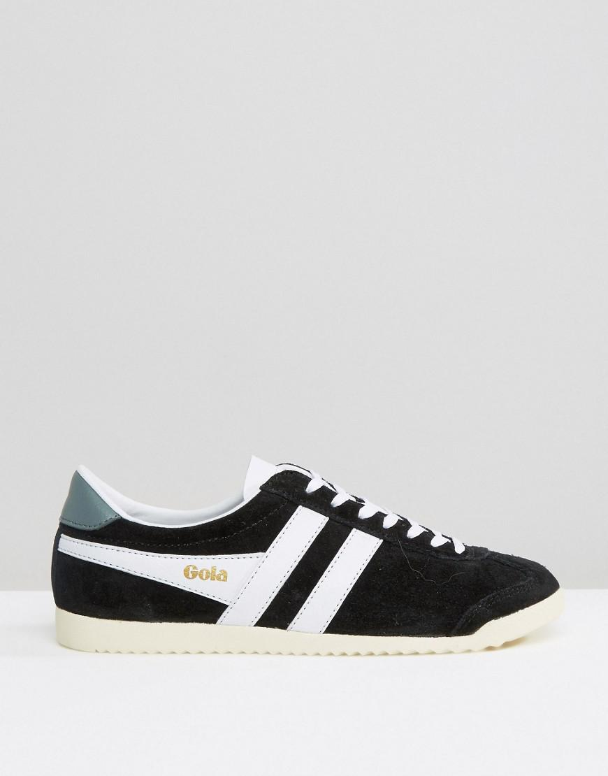 Gola Suede Classic Bullet Sneakers In Black & White