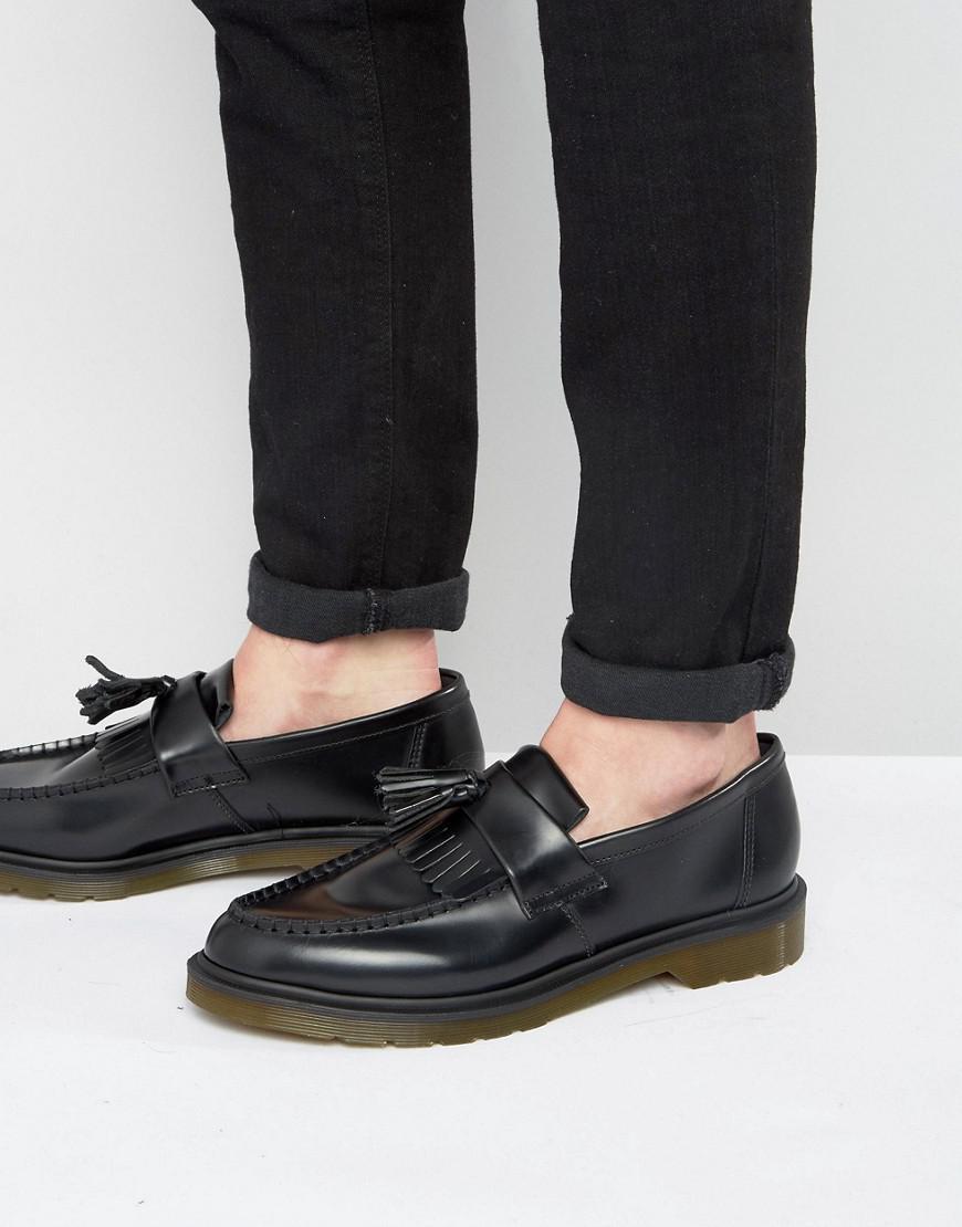 4fd90bc22b7 Lyst - Dr. Martens Adrian Black Tassel Loafers in Black for Men