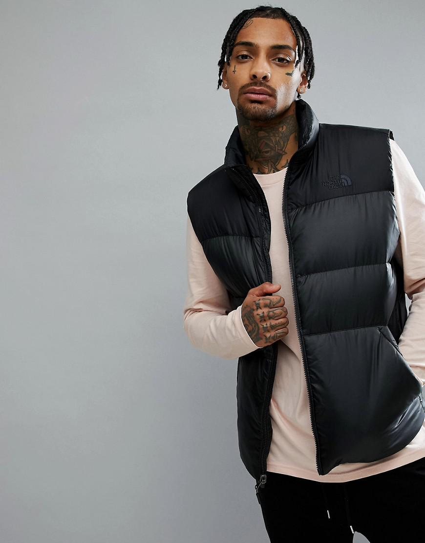 ... discount code for lyst the north face nuptse iii down vest in black in  black for ... 60fe651d8