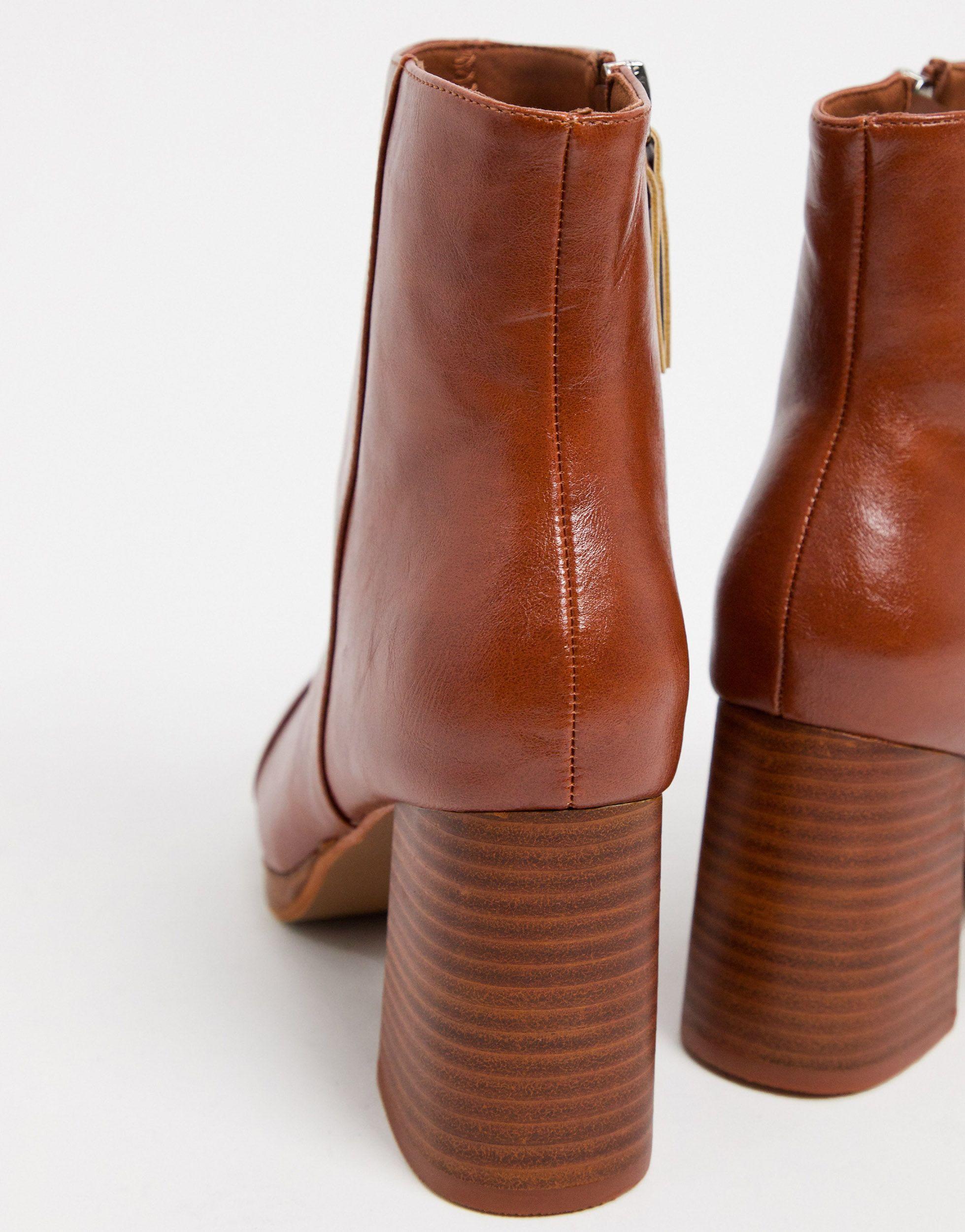 wide fit platform boots