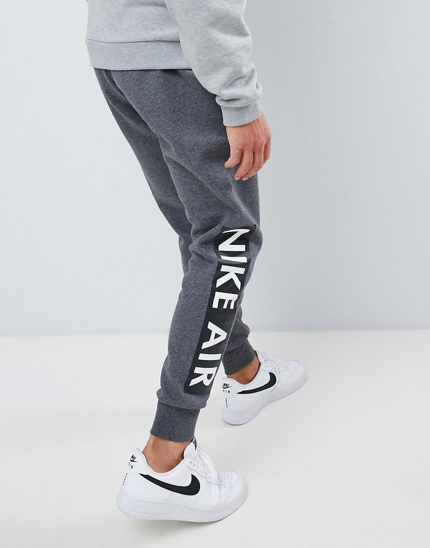 Nike Katoen Air - Skinny joggingbroek in het Grijs voor heren