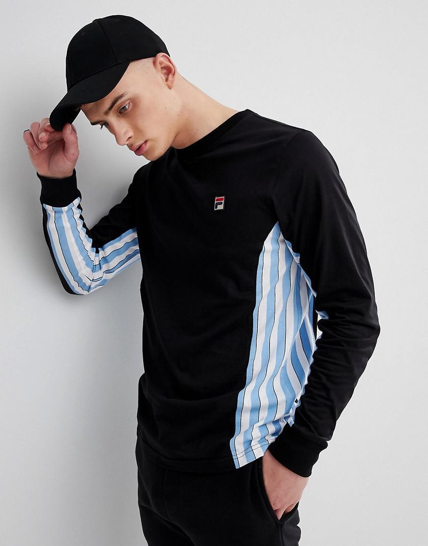 Lyst - T-shirt manches longues avec empicement ray Fila pour homme ... d7b2a6fd38d3