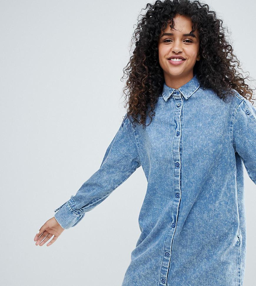 b066159d9e947f Robe chemise en jean Monki en coloris Blue