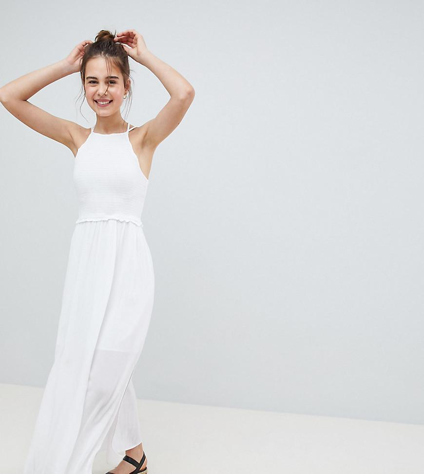 Robe Coloris Croises Pimkie White En Longue Bretelles PX0N8knwO
