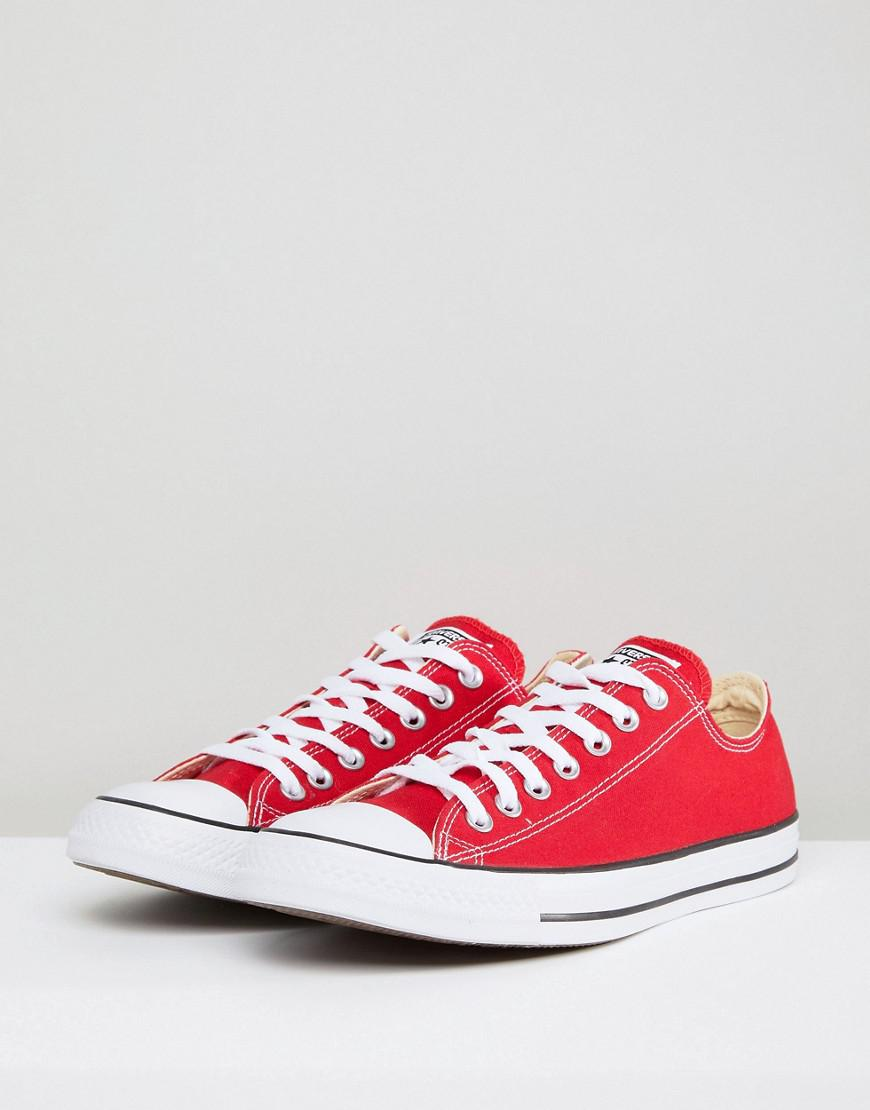2674f8a2c08f Converse All Star Ox Plimsolls In Red M9696c in Red for Men - Lyst