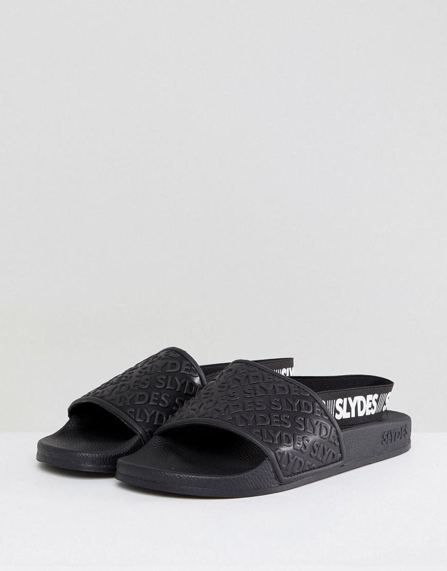 ab76c1e99a2e Slydes Roamer Logo Strap Sliders In Black in Black for Men - Lyst