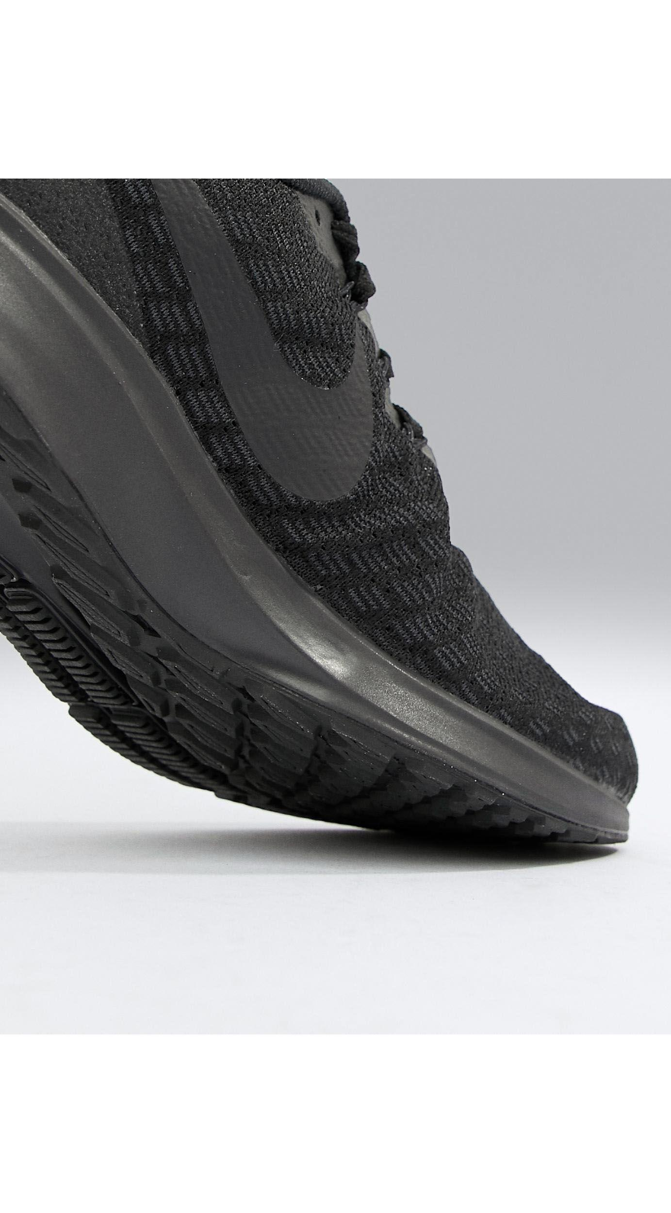 nike running air zoom 35 pegasus sneakers in triple black