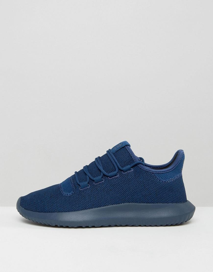 7aecdd512ff743 Lyst - adidas Originals Tubular Shadow Knit Sneakers In Blue Bb8825 in Blue  for Men