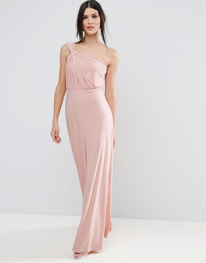 894bd46ac9b Asos Grecian Sash Maxi Dress in Purple - Lyst