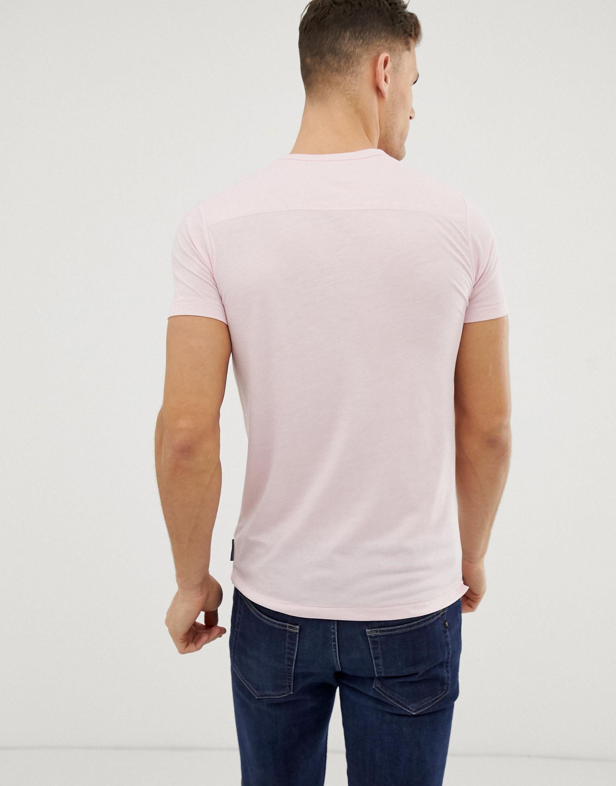 French Connection Katoen Basic - T-shirt Met Ronde Hals in het Roze voor heren