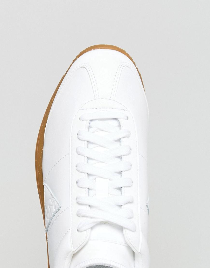 Le Coq Sportif Leather Quartz Sneakers With Speckle Gum Sole in White