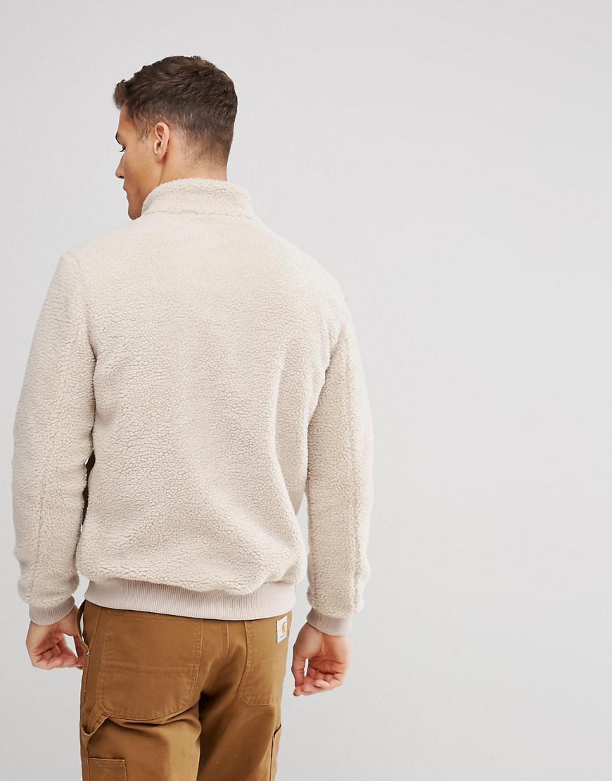 Esprit Teddy Fleece Jacket in Beige (Natural) for Men
