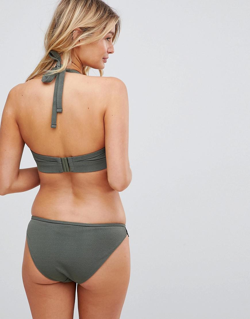 b1375f429a Lyst - Wolf   Whistle Exclusive Lace Trim Bikini Bottom In Khaki in Green