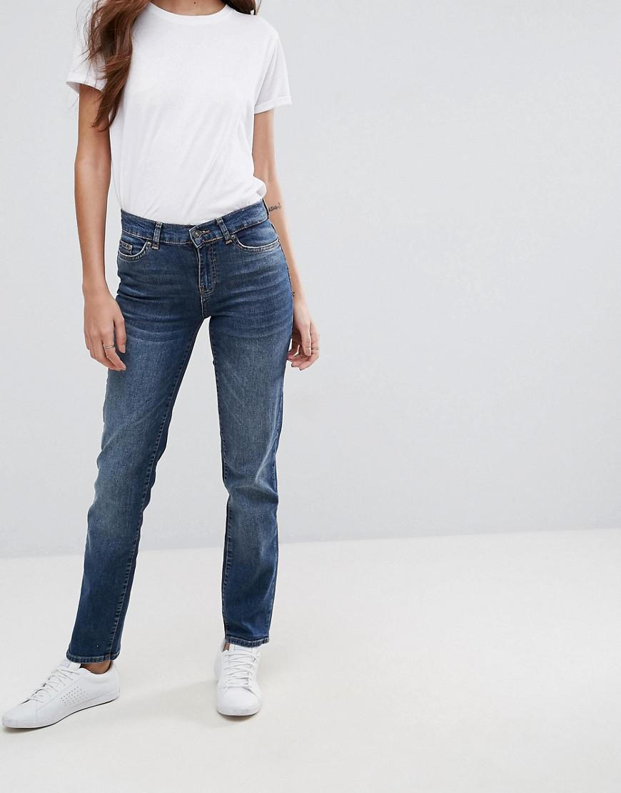 Stirrip Jeans Jambe Droite L34 - Vero Moyen Denim Bleu Moda m9Naz5